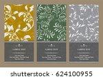 vector magical floral vertical... | Shutterstock .eps vector #624100955