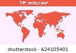 world map. small dot. vector... | Shutterstock .eps vector #624105401