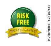 risk free label in green and... | Shutterstock .eps vector #624107669
