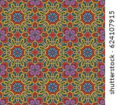 mandala seamless pattern.... | Shutterstock .eps vector #624107915