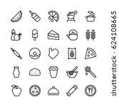 food line vector icons 15 | Shutterstock .eps vector #624108665