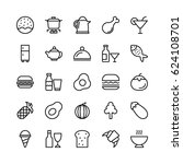 food line vector icons 3 | Shutterstock .eps vector #624108701
