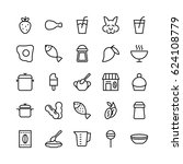 food line vector icons 16 | Shutterstock .eps vector #624108779