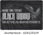 vintage label typeface named... | Shutterstock .eps vector #624125219