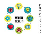 mental health symbol tips | Shutterstock .eps vector #624125771