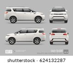 white freight suv car template... | Shutterstock .eps vector #624132287