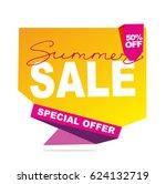 summer sale doodle banner....   Shutterstock .eps vector #624132719