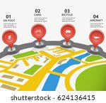 city map vector movement... | Shutterstock .eps vector #624136415