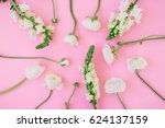 Pattern Of White Flowers  ...
