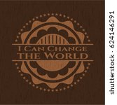 i can change the world badge... | Shutterstock .eps vector #624146291