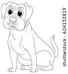 doodle animal for bulldog... | Shutterstock .eps vector #624152819