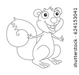 doodle animal for happy... | Shutterstock .eps vector #624153041