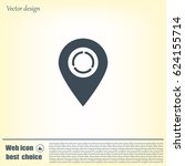 arrows circle vector map pointer | Shutterstock .eps vector #624155714