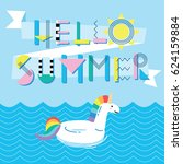 invitation card template with... | Shutterstock .eps vector #624159884