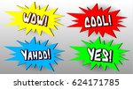 comic wow  cool  yahoo   yes... | Shutterstock .eps vector #624171785