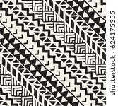 black and white tribal vector... | Shutterstock .eps vector #624175355