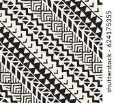 black and white tribal vector... | Shutterstock .eps vector #624175355