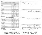 Small photo of Inside of mid-1950s 2nd grade report card.