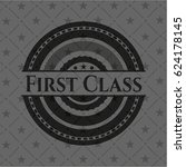 first class dark badge | Shutterstock .eps vector #624178145