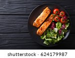 Salmon In Honey Soy Glaze And...