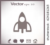 rocket icon | Shutterstock .eps vector #624181265