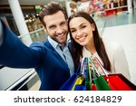 it's shopping time with  sales... | Shutterstock . vector #624184829