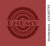 enemy badge with red background | Shutterstock .eps vector #624185795