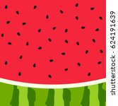 watermelon slice background... | Shutterstock .eps vector #624191639