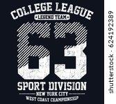 new york city sport division ... | Shutterstock .eps vector #624192389