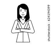 businesswoman avatar character... | Shutterstock .eps vector #624194399