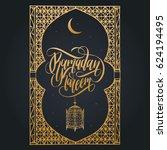 ramadan kareem greeting card... | Shutterstock .eps vector #624194495
