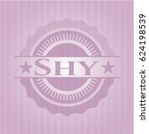 shy badge with pink background | Shutterstock .eps vector #624198539