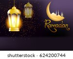 beautiful  lights with bright... | Shutterstock .eps vector #624200744