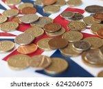 pound coins money  gbp  ... | Shutterstock . vector #624206075