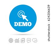 demo with cursor sign icon.... | Shutterstock .eps vector #624206639