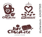 vector set logo template hot... | Shutterstock .eps vector #624207005