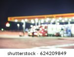 blurred of several large over... | Shutterstock . vector #624209849