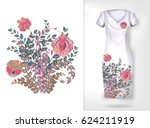 embroidery colorful trend... | Shutterstock .eps vector #624211919