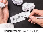 pay off debt | Shutterstock . vector #624212144
