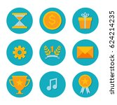 icons with flat design elements ...