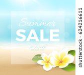 vector summer sale poster with... | Shutterstock .eps vector #624216611