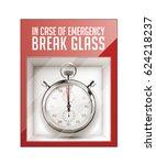 in case of emergency break... | Shutterstock .eps vector #624218237