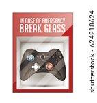 in case of emergency break... | Shutterstock .eps vector #624218624