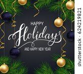 holidays greeting card for... | Shutterstock . vector #624219821