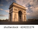 arc de triomphe at sunrise | Shutterstock . vector #624221174