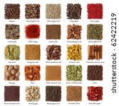 Indian Spices Collection With...