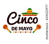 cinco de mayo colorful vector... | Shutterstock .eps vector #624222977