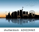 orlando skyline   florida  ... | Shutterstock .eps vector #624224465