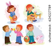 set of clip art illustrations... | Shutterstock . vector #624227789