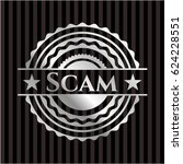 scam silver badge or emblem | Shutterstock .eps vector #624228551